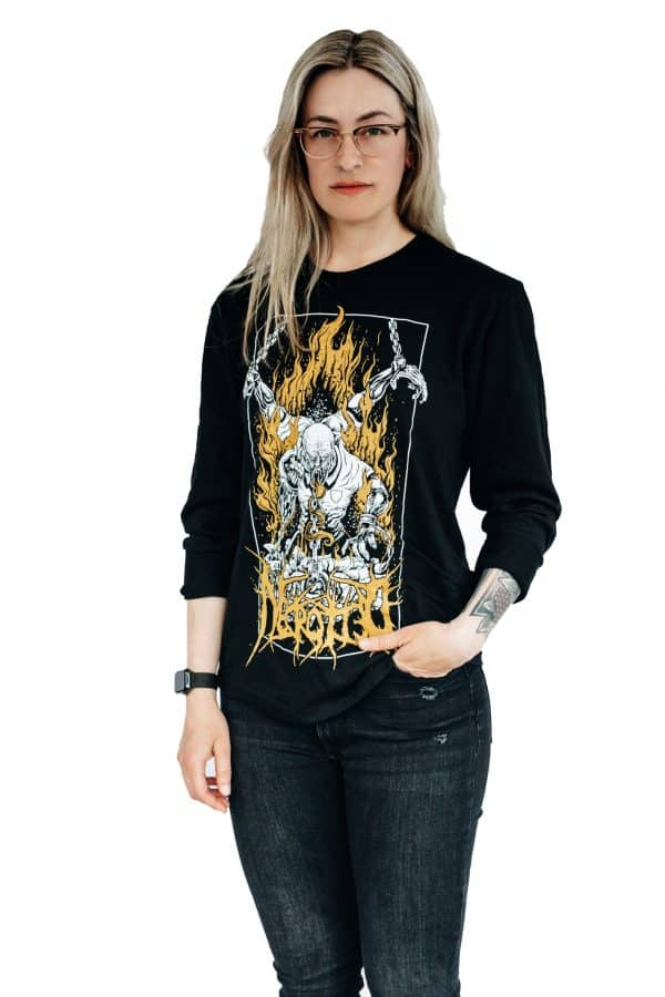 Necrotted, Chains, Longsleeve, Black, Female