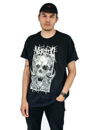 Necrotted, Face of Death, T-Shirt, Black, Male